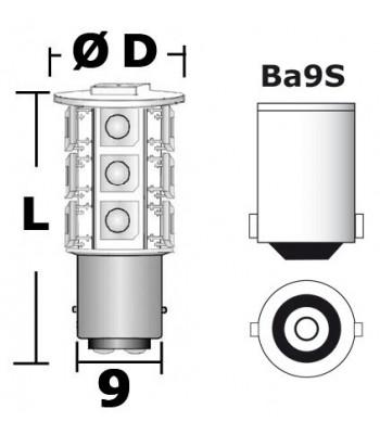 LED bulb for lights and navigation lights