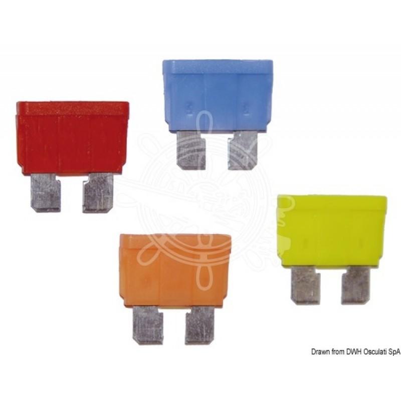 5 Fusibili lamellari standard con LED spia