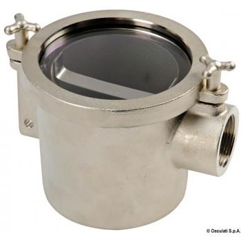 Filtro in ottone nichelato per acqua motore