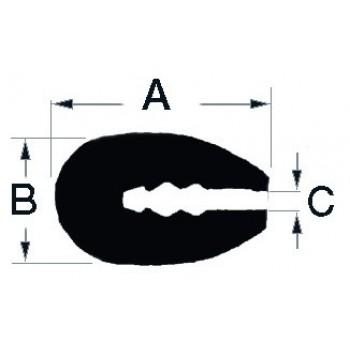 Profilo BIANCO per bordatura vetroresina, legno, metallo