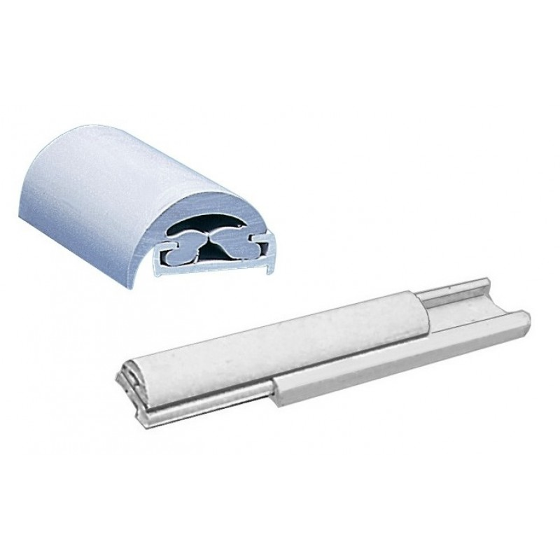 Profilo parabordo in materiale plastico rigido duralene con inserto in PVC flessibile