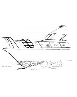 Portaparabordi reclinabile adatto per contenere 2 parabordi