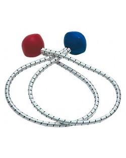 Serravele con palline bicolore in plastica - 4 pz