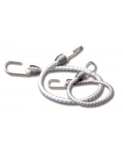 Corde elastiche con ganci inox - 4 pz