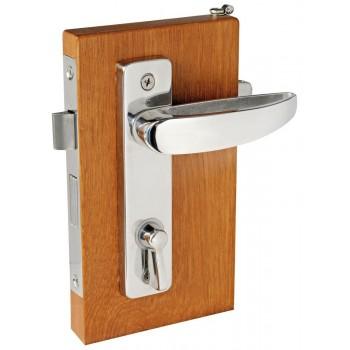 Serratura con blocco dall'interno e sblocco di emergenza dall'esterno (per WC e cabine)
