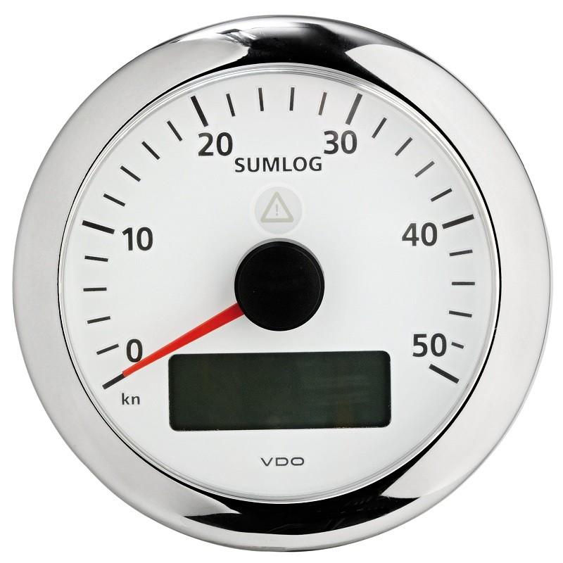 """Sumlog+orologio + voltmetro + ecoscandaglio + temperatura H2O - VDO """"ViewLine"""""""